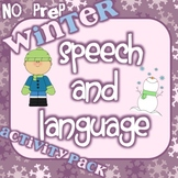 NO PREP Winter Speech and Language Activity Pack