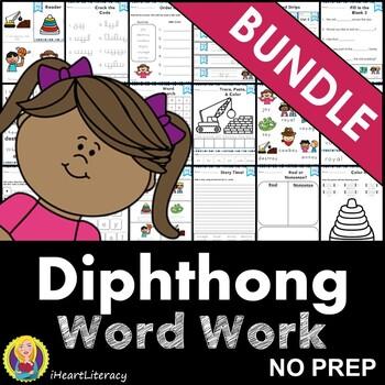 Word Work Diphthong Bundle oi oy ow ou NO PREP