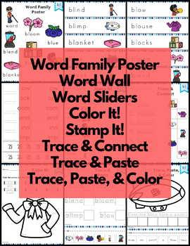 Word Work L Blends Bundle Consonant Blends NO PREP