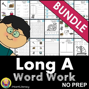 Word Work Long A Bundle NO PREP