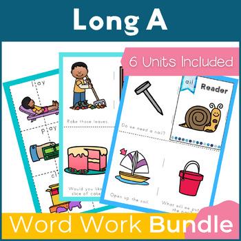 Word Work Long A Bundle NO PREP