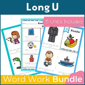 Word Work Long U Bundle NO PREP