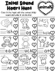 NO PREP Word Work Printable Worksheets: Valentines Day Theme