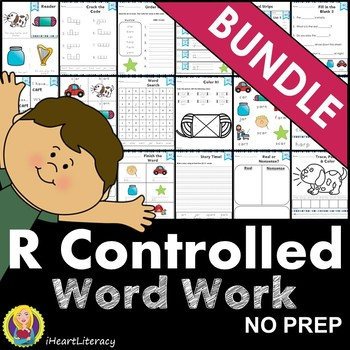 Word Work R Controlled Vowels Bundle ar er ir or ur NO PREP