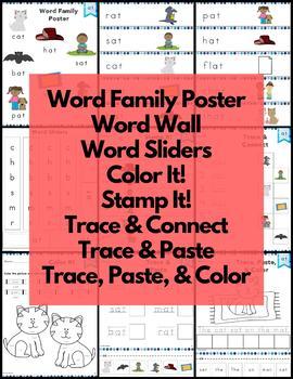Short Vowel Word Family Word Work and Activities Mega Bundle