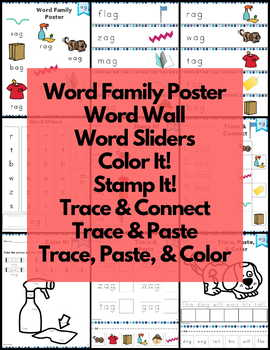 ag Word Family FREE Word Work and Activities - Short A