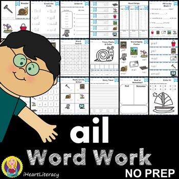 ail Word Family Word Work and Activities - Long A