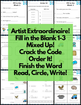 ain Word Family Word Work and Activities - Long A