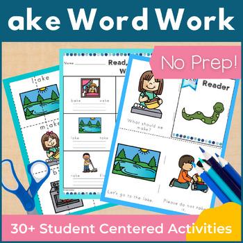 Word Work ake Word Family Long A NO PREP