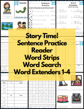 ake Word Family Word Work and Activities - Long A