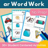 Word Work ar R Controlled Vowels NO PREP