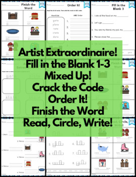 ate Word Family FREE Word Work and Activities - Long A