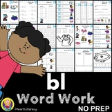 bl Word Family Word Work and Activities - L Blends