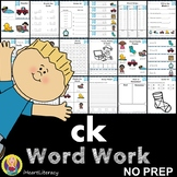 ck Word Family Word Work and Activities - Digraphs and Trigraphs