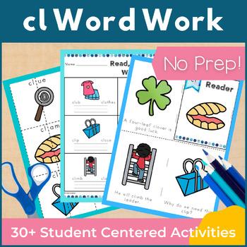 Word Work cl L Blends NO PREP
