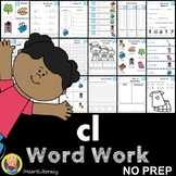 cl Word Family Word Work and Activities - L Blends