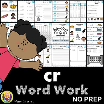 Word Work cr R Blends NO PREP