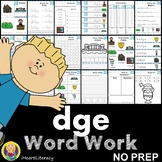 dge Word Family Word Work and Activities - Digraphs and Trigraphs