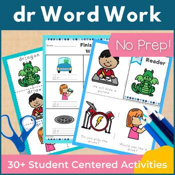 Word Work dr R Blends NO PREP