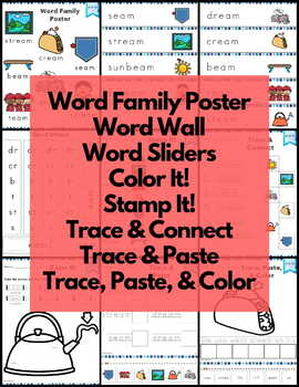 Word Work eam Word Family Long E NO PREP