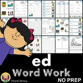 Word Work ed Word Family Short E NO PREP
