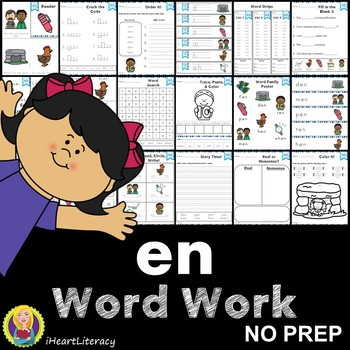 en Word Family Word Work and Activities - Short E