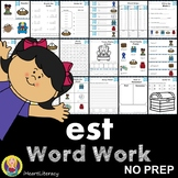 est Word Family Word Work and Activities - Short E