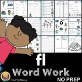 fl Word Family Word Work and Activities - L Blends