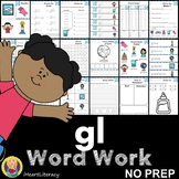 gl Word Family Word Work and Activities - L Blends