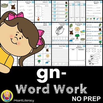 Word Work gn Silent Letters NO PREP