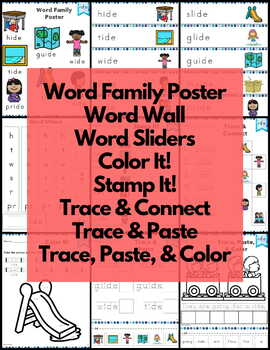 Word Work ide Word Family Long I NO PREP