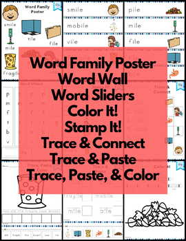 Word Work ile Word Family Long I NO PREP