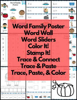 Word Work in Word Family Short I NO PREP