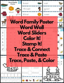 Word Work oat Word Family Long O NO PREP