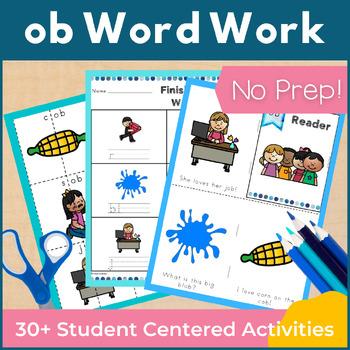 Word Work ob Word Family Short O NO PREP