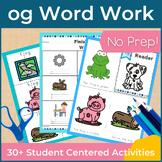 Word Work og Word Family Short O NO PREP