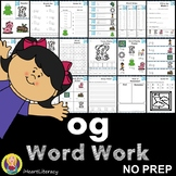 og Word Family Word Work and Activities - Short O