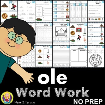 Word Work ole Word Family Long O NO PREP