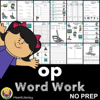op Word Family Word Work and Activities - Short O