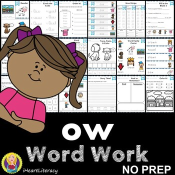Word Work ow Diphthongs NO PREP