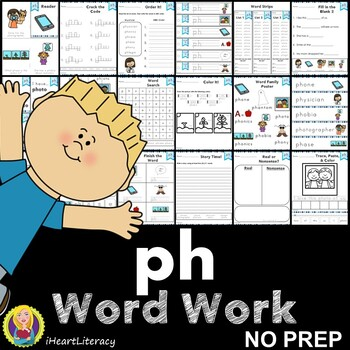 Word Work ph Digraphs and Trigraphs NO PREP