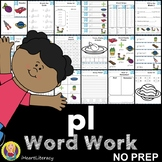 pl Word Family Word Work and Activities - L Blends