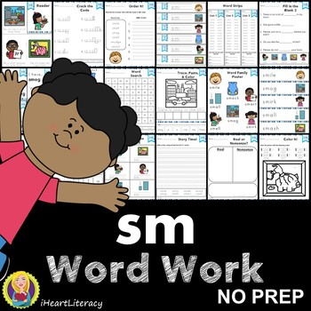 Word Work sm S Blends NO PREP