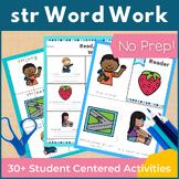 Word Work str Three Letter Blends NO PREP