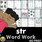str Word Family Word Work and Activities - Three Letter Blends