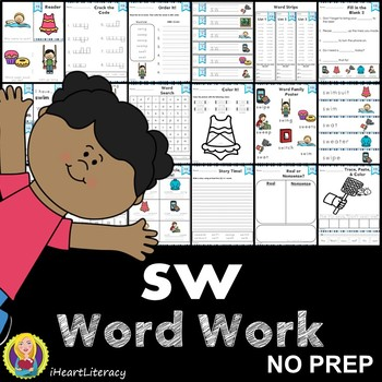 Word Work sw S Blends NO PREP