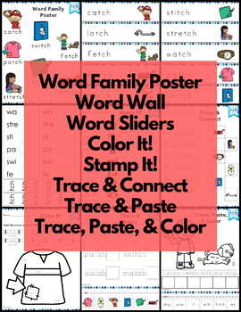 Word Work tch Digraphs and Trigraphs NO PREP