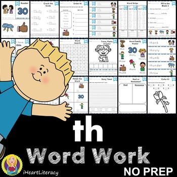 Word Work th Digraphs and Trigraphs NO PREP