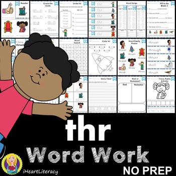 Word Work thr Three Letter Blends NO PREP