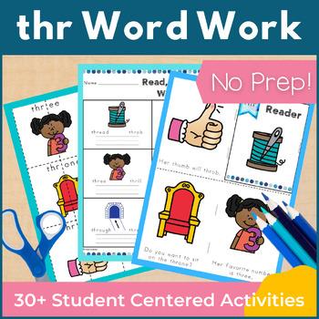Word Work thr Three Letter Blends NO PREP